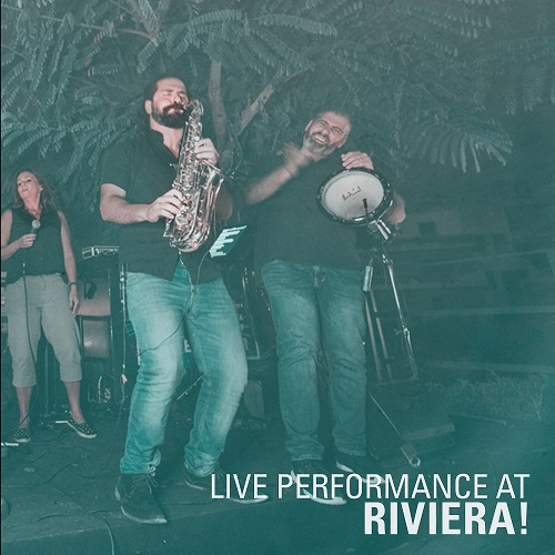 Alecco & the band live on stage at Riviera Beach Lounge